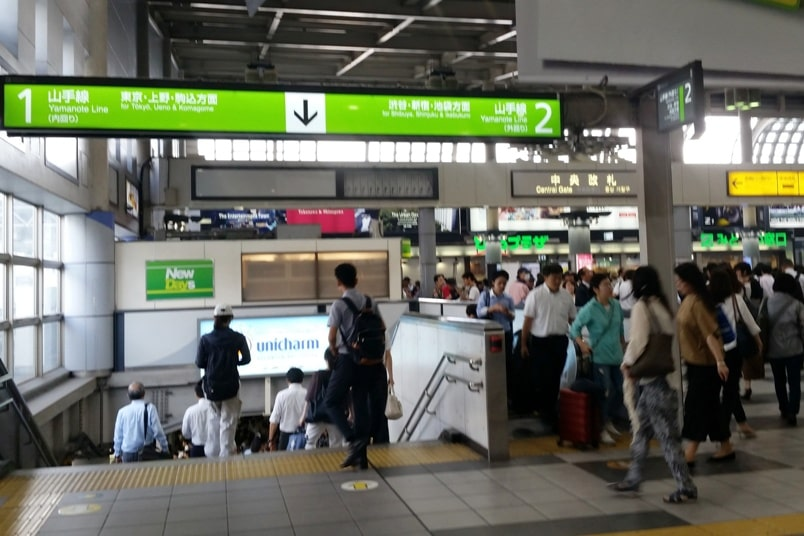 Shinagawa to Shinjuku: Getting around Tokyo by train. Yamanote line. JR train timings to Shinjuku with JR pass. Backpacking Tokyo Japan