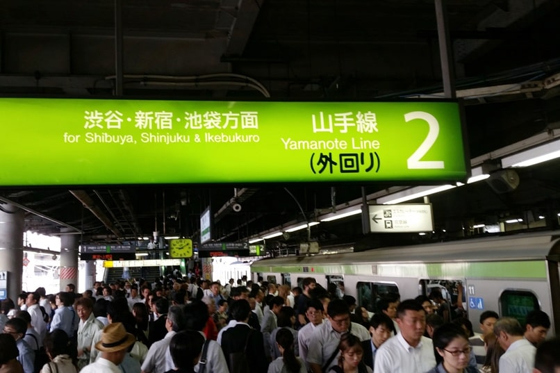 Shinagawa to Shinjuku: Getting around Tokyo by train to Shinjuku, Shibuya, Ikebukuro. Yamanote line. JR train timings to Shinjuku with JR pass. Backpacking Tokyo Japan