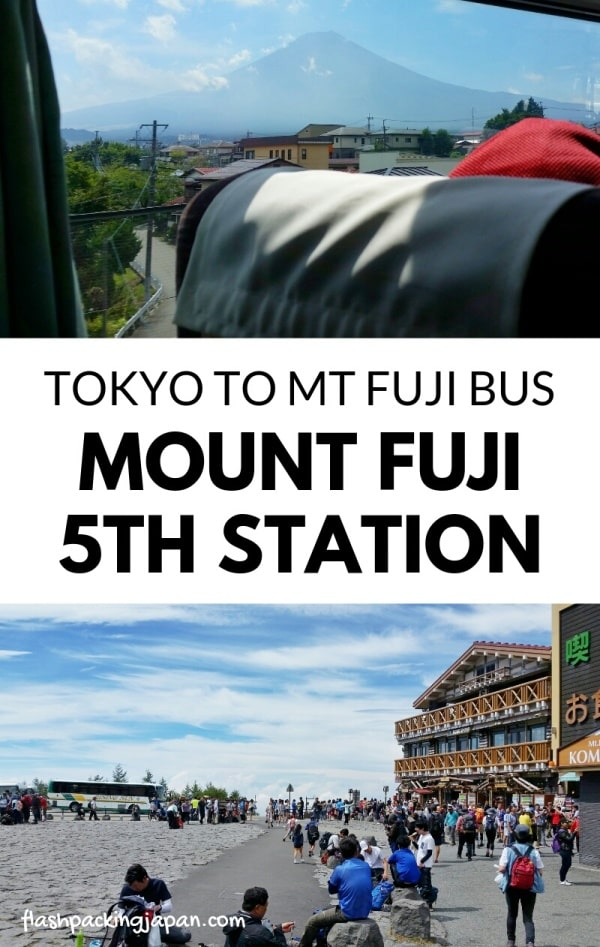 Shinjuku to Mt Fuji 5th station bus for climbing Mount Fuji from Tokyo. Hiking Japan. Backpacking Japan travel blog.
