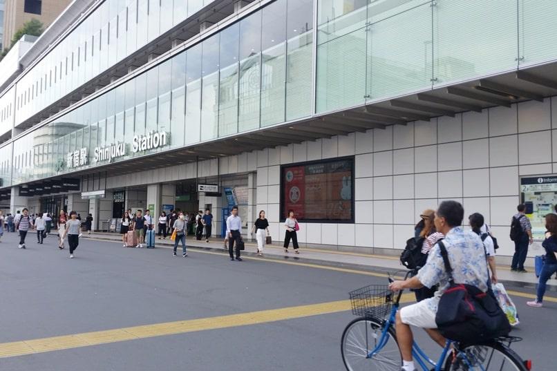 Shinjuku to Mt Fuji 5th station bus: How to get to Shinjuku bus terminal - Shinjuku station. Climbing Mount Fuji from Tokyo. Hiking Japan