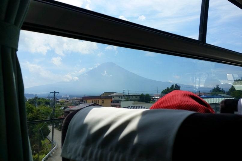 Shinjuku to Mt Fuji 5th station bus: Mount Fuji views. Climbing Mount Fuji from Tokyo. Hiking Japan
