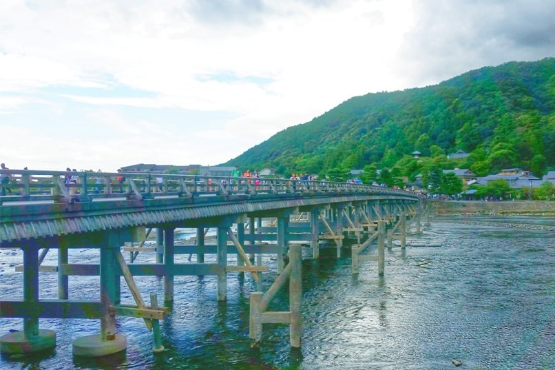 Togetsukyo bridge - Best things to do in Arashiyama in one day. Backpacking Kyoto Japan