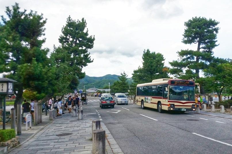 Togetsukyo bridge - Bus to arashiyama. One day in Arashiyama and Sagano. Backpacking Kyoto Japan