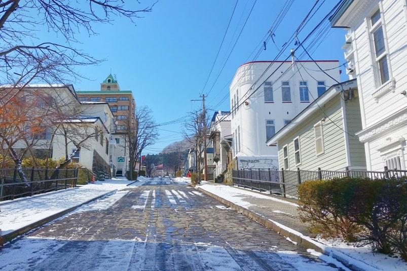 Daisan zaka slope, Motomachi streets in Hakodate. Backpacking Hokkaido Japan
