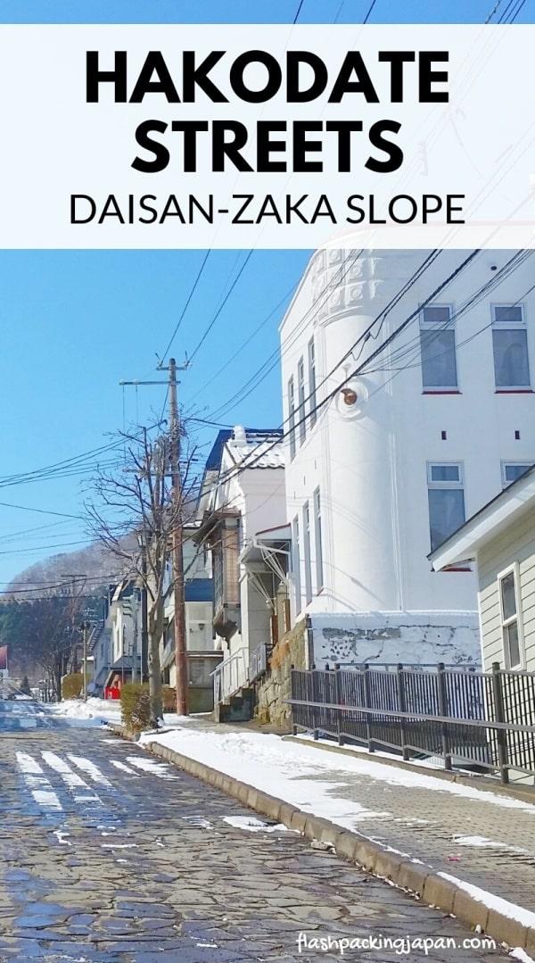 Daisan zaka slope, Motomachi streets in Hakodate. Backpacking Hokkaido Japan travel blog