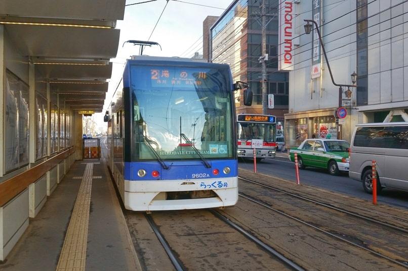 Hakodate tram shiden streetcar. Backpacking Hokkaido Japan