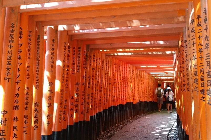 Kyoto fushimi inari shrine vs Sapporo fushimi inari shrine. Backpacking Hokkaido Japan