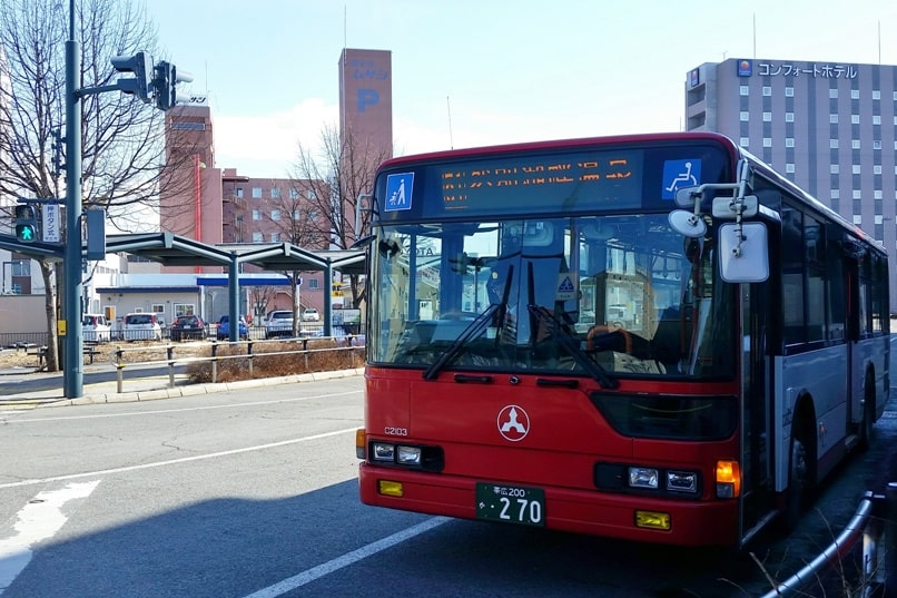 Sapporo to Lake Shikaribetsu igloo village: Bus to Lake Shikaribetsu from Obihiro bus station. Backpacking Hokkaido Japan winter