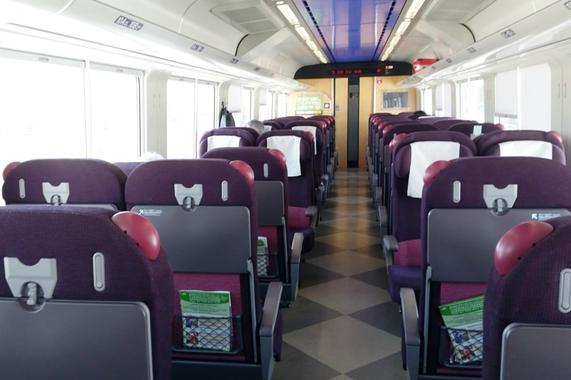 Sapporo to Lake Shikaribetsu igloo village: Train seating from Sapporo station to Obihiro station, free with JR pass or JR Hokkaido pass. Backpacking Hokkaido Japan winter