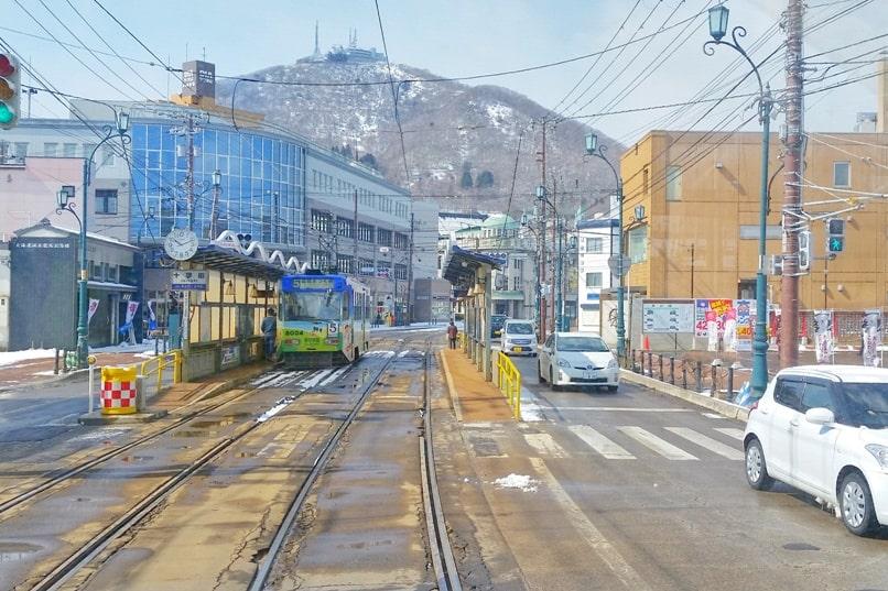 Small town hostel Hakodate near jujigai tram station. Backpacking Hokkaido Japan