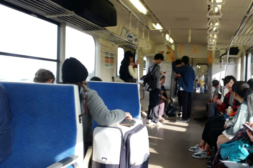Hakuba to matsumoto train ride to matsumoto station. Backpacking Nagano Japan