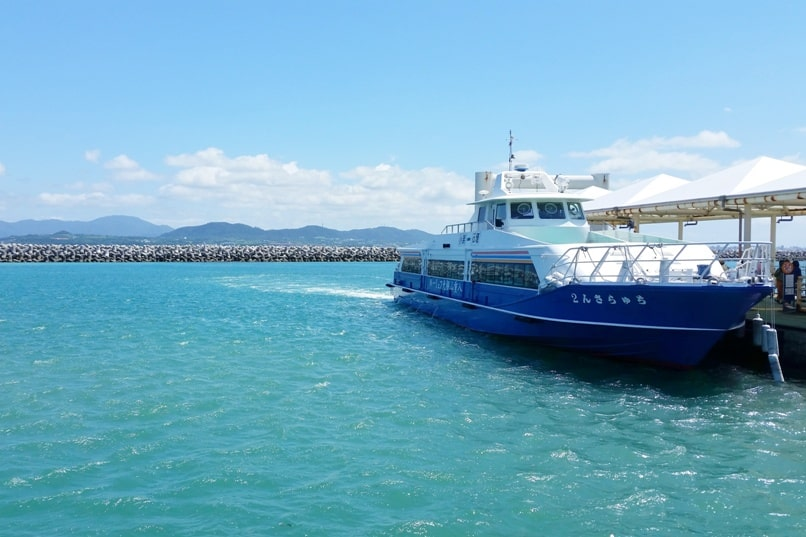 Ishigaki to Taketomi ferry. Taketomi ferry port arrival timings. Backpacking Yaeyama islands, Okinawa Japan