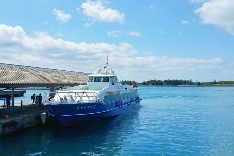 Ishigaki to Taketomi ferry. Ishigaki ferry port. Backpacking Yaeyama islands, Okinawa Japan travel blog