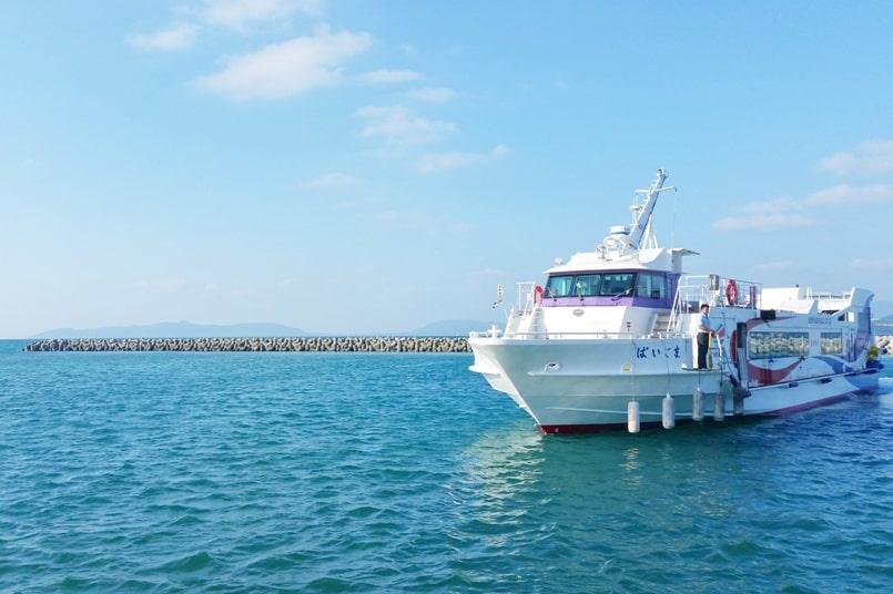 Ishigaki to Taketomi ferry. Taketomi ferry port. Backpacking Yaeyama islands, Okinawa Japan travel blog
