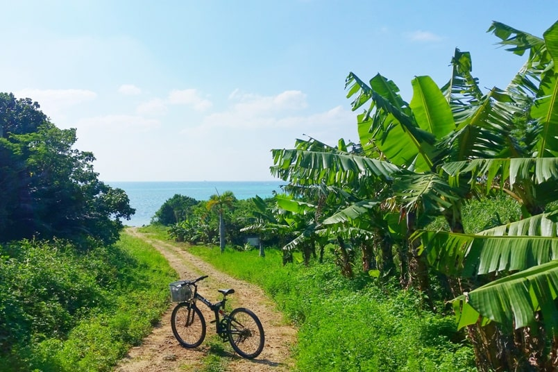 Ishigaki to Taketomi ferry. Best things to do in Taketomi cycling around island. Backpacking Yaeyama islands, Okinawa Japan