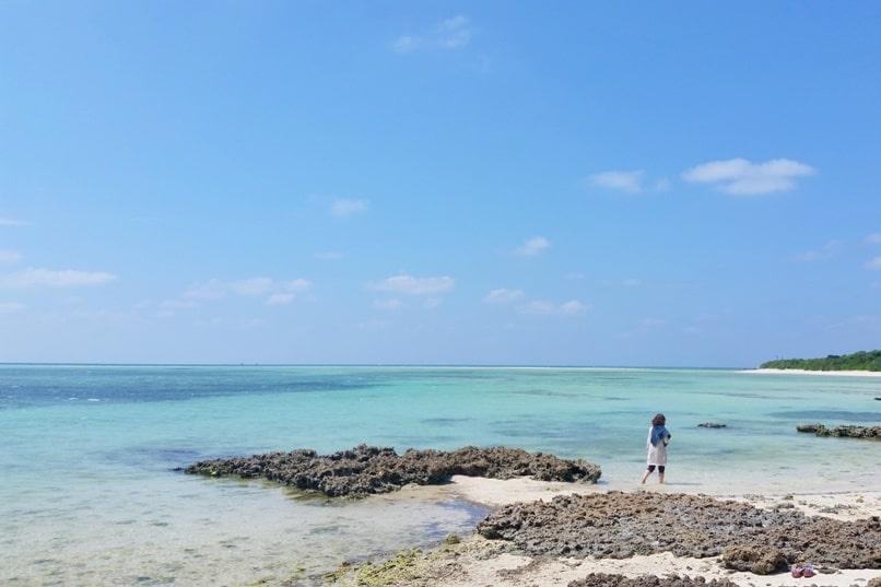 Ishigaki to Taketomi ferry. Best things to do in Taketomi - Kaiji Beach. Backpacking Yaeyama islands, Okinawa Japan