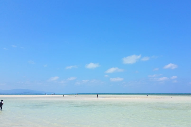 Ishigaki to Taketomi ferry. Best things to do in Taketomi - Kondoi Beach. Backpacking Yaeyama islands, Okinawa Japan