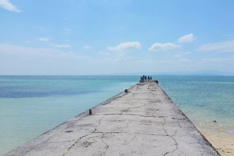 Ishigaki to Taketomi ferry. Best things to do in Taketomi - Nishi sanbashi pier. Backpacking Yaeyama islands, Okinawa Japan