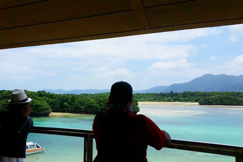 Kabira Bay, Ishigaki. Best things to do at Kabira Bay - observation deck for best views in Okinawa Japan. Yaeyama islands. Backpacking Okinawa Japan