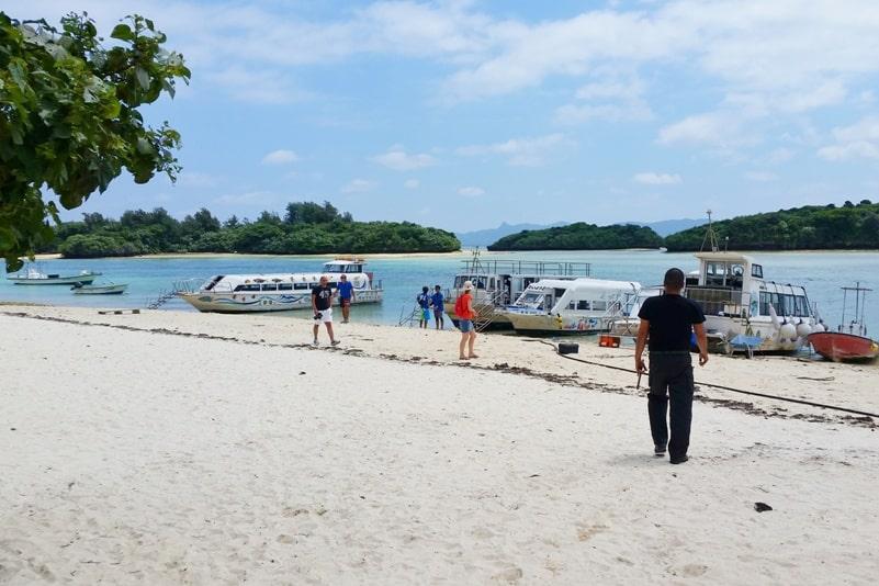 Kabira Bay - where is glass bottom boat ride launch, starting point. Backpacking Ishigaki Okinawa Japan