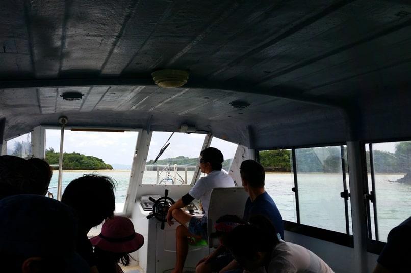 Kabira Bay boat ride tour. Backpacking Ishigaki Okinawa Japan