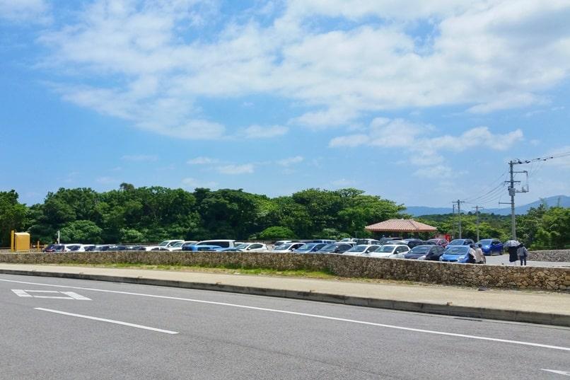 Kabira Bay parking lot. Backpacking Ishigaki Okinawa Japan
