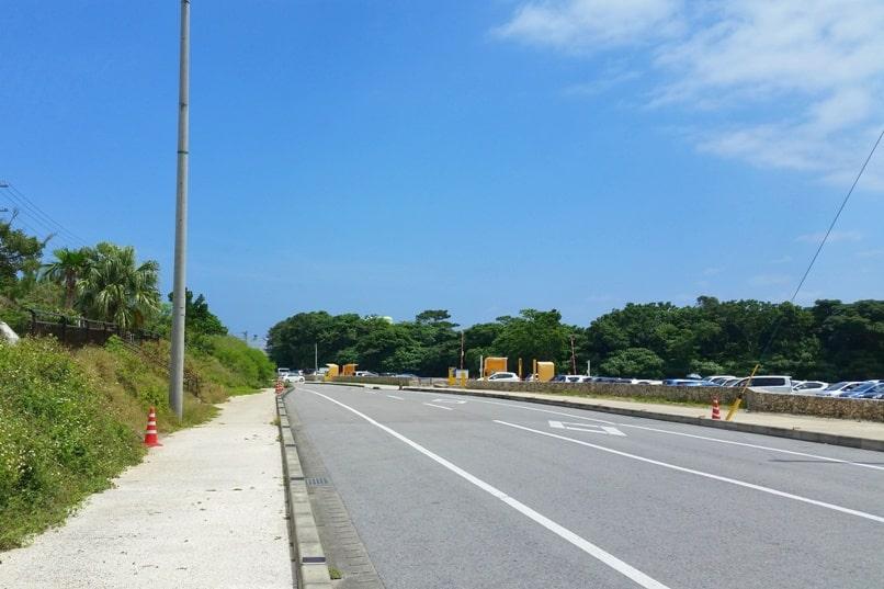 Kabira Bay to Sukuji beach street walking. Backpacking Ishigaki Okinawa Japan