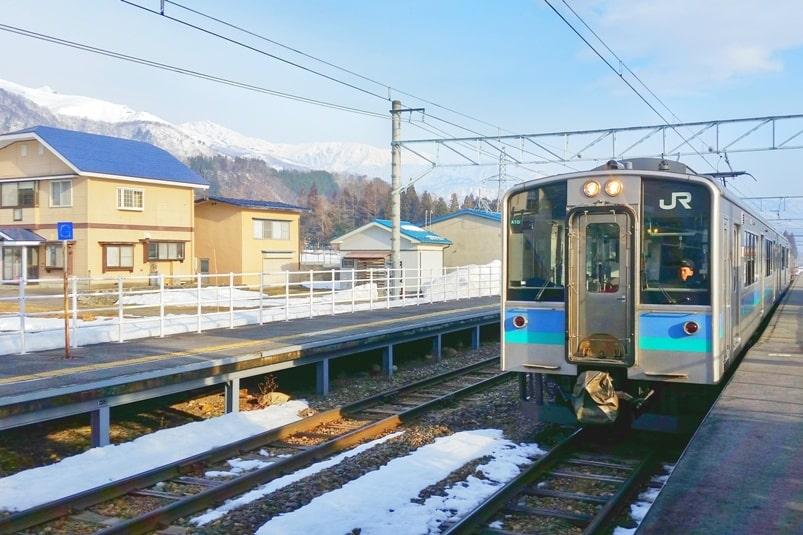 K's house hakuba hostel near jr train station kamishiro. Backpacking Japan Alps winter ski or snowboarding trip