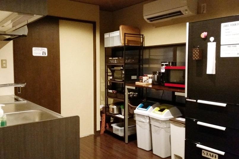 K's house Takayama hostel in hida valley. kitchen. Backpacking Japan travel