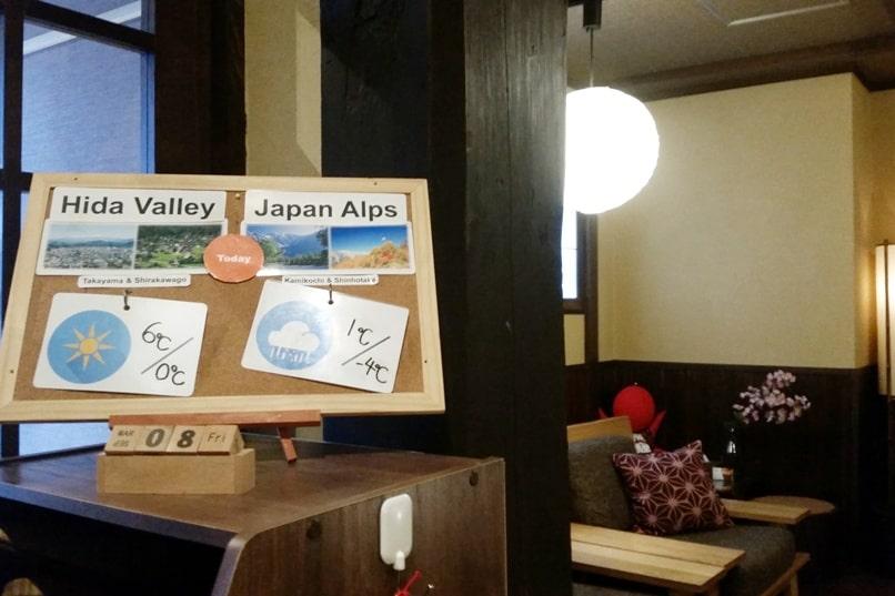 K's house Takayama hostel. weather in hida valley. Backpacking Japan travel