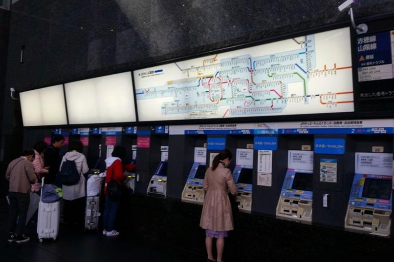 Kyoto to Kansai airport KIX train from Kyoto Station - where to buy jr haruka tickets. Backpacking Kyoto Japan
