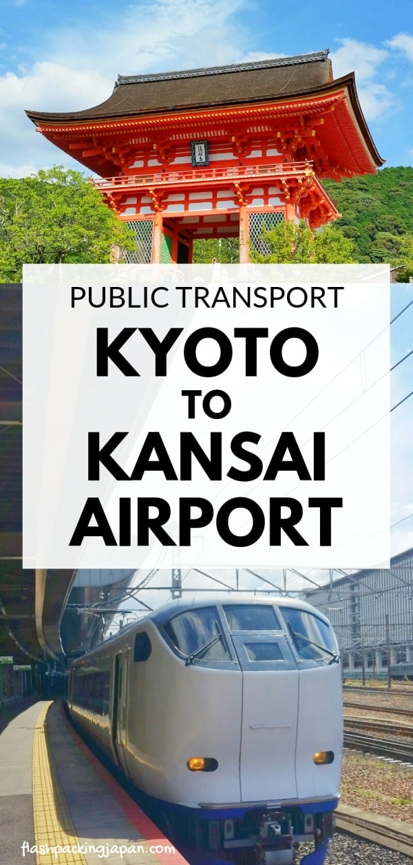 Kyoto to Kansai airport KIX train - jr haruka limited express train. how to get to airport by public transportation. Backpacking Kyoto Japan travel blog.