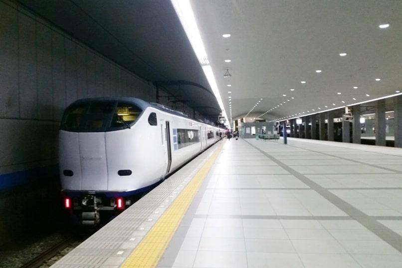 Kyoto to Kansai airport KIX train - jr haruka train from airport. Backpacking Kyoto Japan