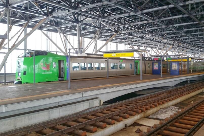 Sapporo to Asahikawa train to get to asahiyama zoo. with JR pass, with JR hokkaido pass. Backpacking Hokkaido Japan