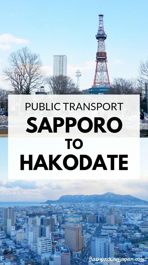 Sapporo to Hakodate train. hakodate station or shin-hakodate-hokuto for shinkansen bullet train to tokyo. with JR pass, with JR hokkaido pass. Backpacking Hokkaido Japan travel blog