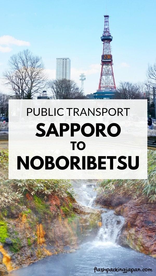 Sapporo to Noboribetsu train. Day trip to Noboribetsu onsen. with JR pass, with JR hokkaido pass. Backpacking Hokkaido Japan travel blog