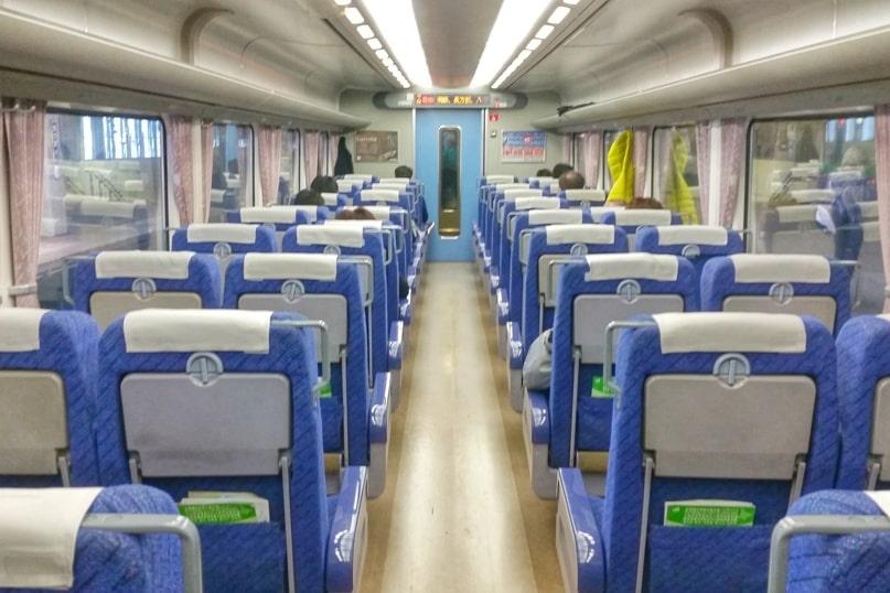 Sapporo to Noboribetsu train seating - reserved or nonreserved. Backpacking Hokkaido Japan