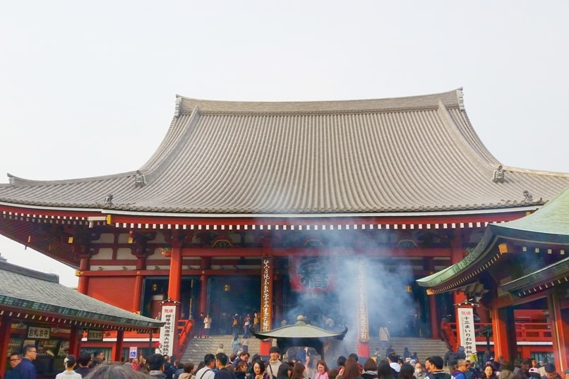 Sensoji temple visit - smoke. places to visit in asakusa. Backpacking Tokyo Japan