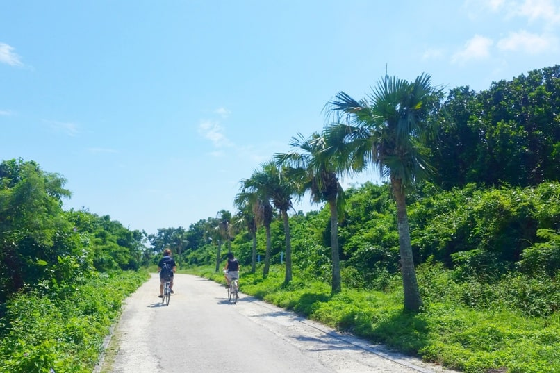 Taketomi Island day trip - best things to do in Taketomi - cycling around taketomi island. Backpacking Yaeyama islands, Okinawa Japan