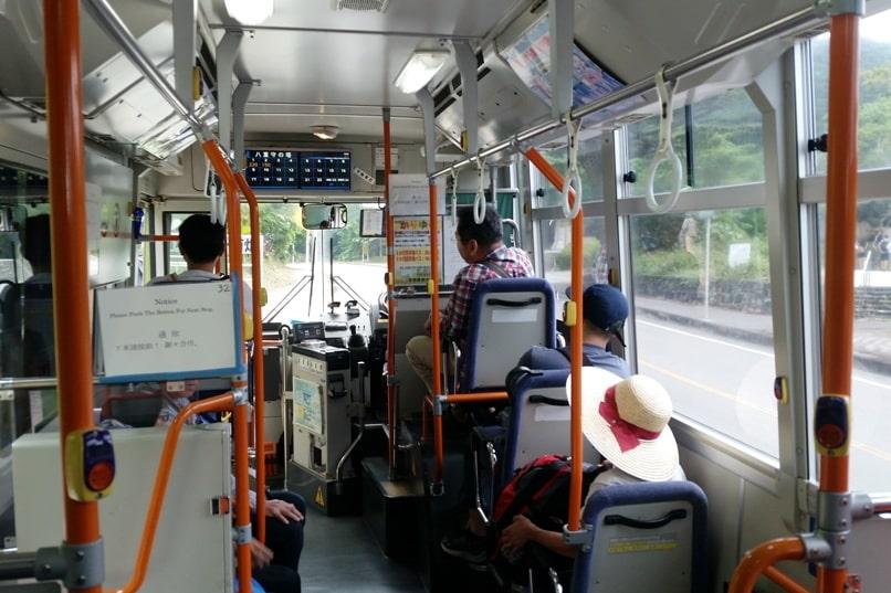 Yonehara Beach bus ride, Ishigaki. Backpacking Okinawa Japan