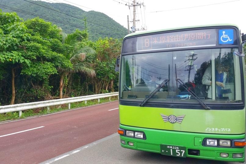Yonehara Beach bus stop in Ishigaki. Backpacking Okinawa Japan