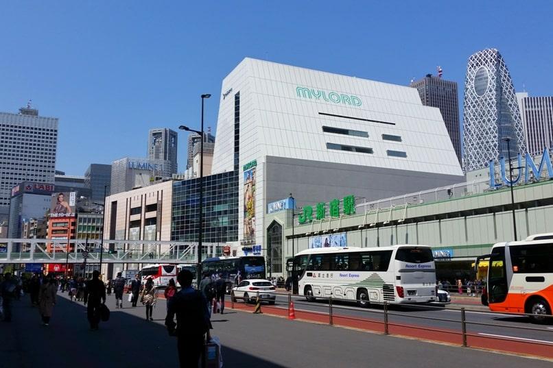 Tokyo to Chureito Pagoda. Start at Tokyo Shinjuku train station. Backpacking Tokyo Japan