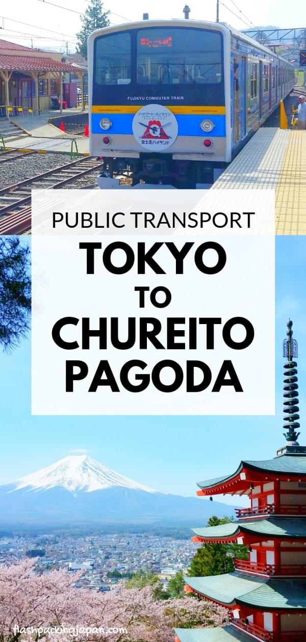 Tokyo to Chureito Pagoda. how to get to chureito pagoda by train. shinjuku tokyo to fujiyoshida train. Backpacking Tokyo Japan travel blog