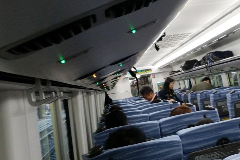 Tokyo to Chureito Pagoda. Shinjuku Tokyo to Otsuki train JR Azusa limited express train ticket with reserved seats. Backpacking Tokyo Japan