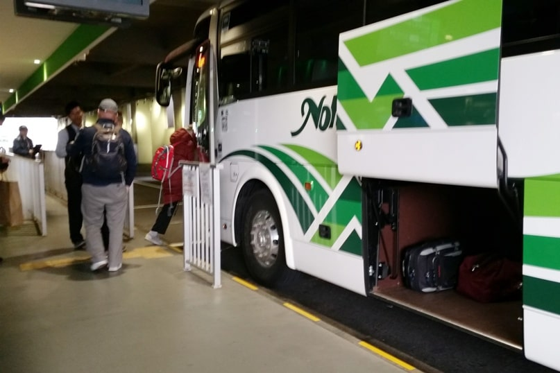 Matsumoto bus terminal departure timings. Backpacking japan travel blog