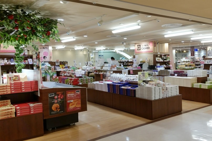 Matsumoto bus terminal - gift shop. where to buy souvenirs. Backpacking japan travel blog