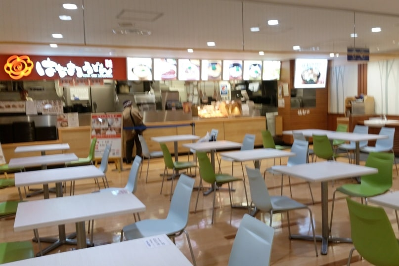 Food near Matsumoto bus terminal - restaurant food court. where to eat. Backpacking japan travel blog