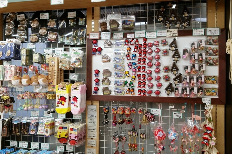 Matsumoto to Takayama bus. rest area gift shop. Backpacking japan travel blog