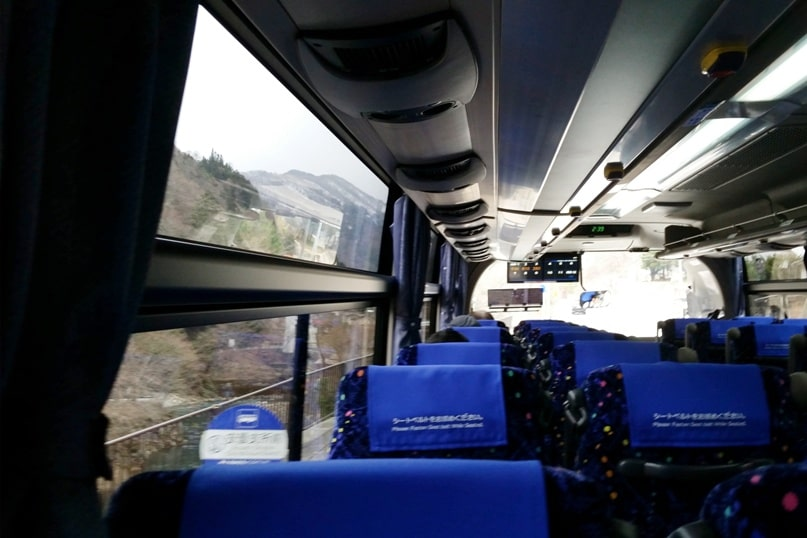Matsumoto to Takayama bus ride time. Backpacking japan travel blog