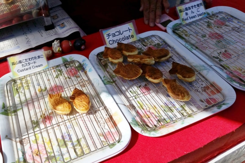 Taiyaki filling flavors - Japanese street food in Japan. Backpacking Japan travel blog.